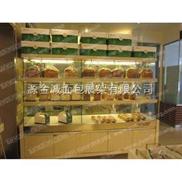 单面靠墙面包展示柜