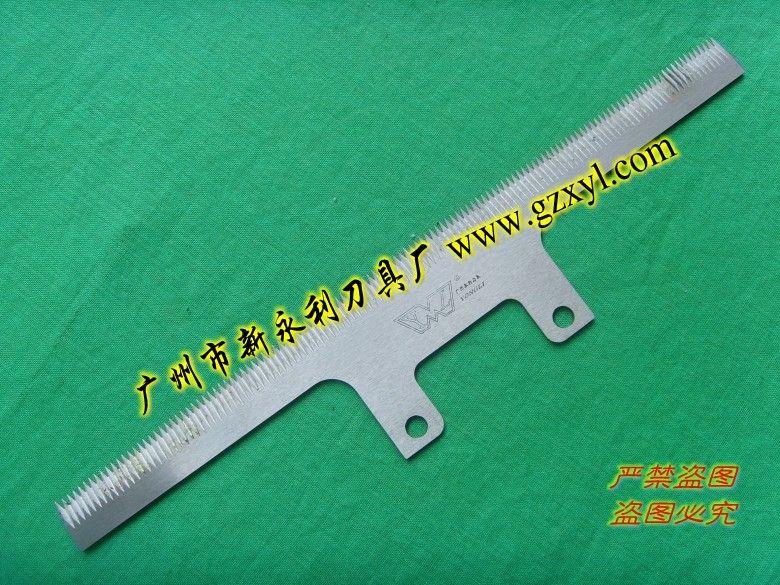 供应不锈钢优质食品包装机双面齿刀片