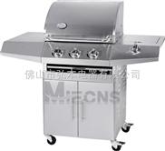 3炉头 不锈钢燃气烧烤炉 户外BBQ烧烤路 花园户外烧烤炉