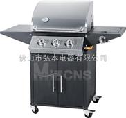 3炉头 不锈钢燃气烧烤炉 户外BBQ烧烤炉 煤气烧烤炉