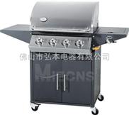4炉头 黑色喷头燃气烧烤炉 户外煤气烧烤炉 户外BBQ烧烤炉