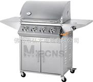 4炉头 户外烧烤炉 不锈钢烧烤炉 户外燃气烧烤炉