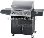 4炉头 黑色喷涂烧烤炉 户外烧烤炉 BBQ烧烤炉