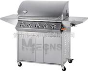 5炉头 不锈钢户外燃气烧烤炉 户外BBQ烧烤炉 煤气烧烤炉