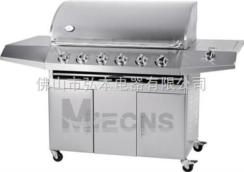 6炉头 不锈钢烧烤炉 户外燃气烧烤炉 BBQ烧烤炉