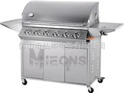 6炉头 户外燃气烧烤炉 BBQ烧烤炉 不锈钢煤气烧烤炉